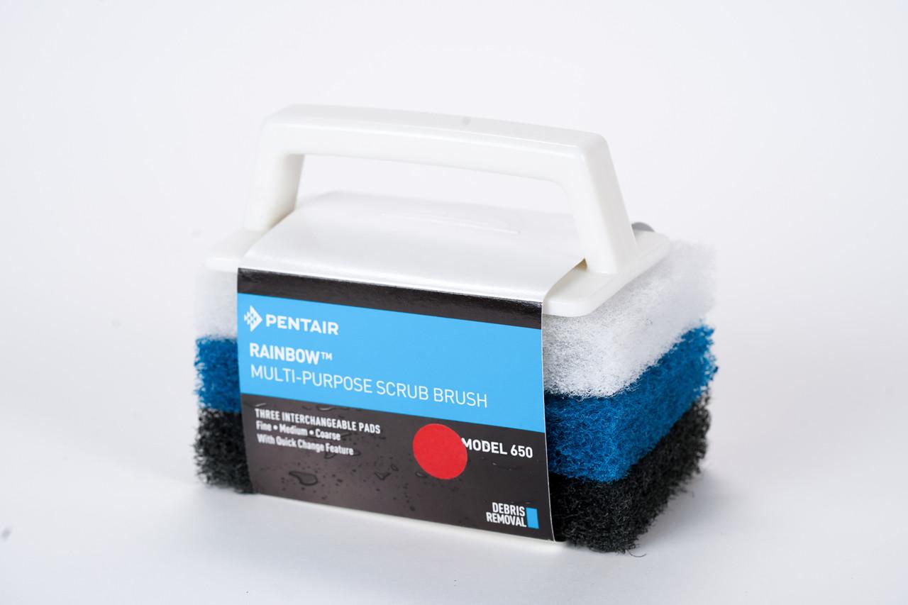 Brush With 3 Scrub Pads