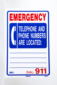 Sign Emergency Phone Location