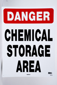 Sign Chemical Storage