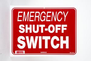Sign Emergency Shut Off