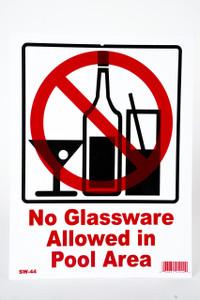 Sign No Glassware Allowed