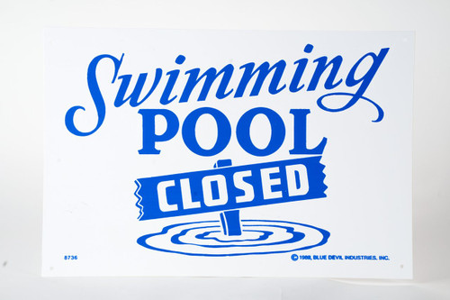 Sign Pool Closed