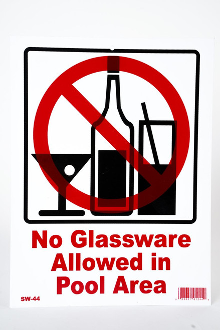 Sign No Glassware Allowed