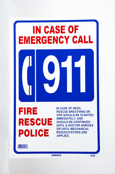 Sign Emergency 911