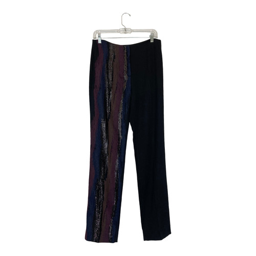 Kimora Lee Simmons Metallic Embroidered Trousers-Thumbnail