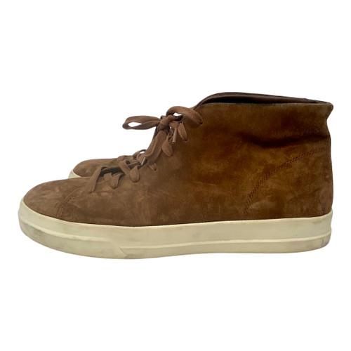 Vince High-Top Suede Sneakers- Left