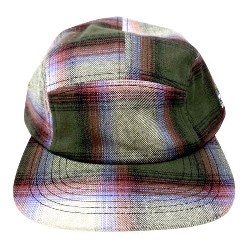 Kith Buffalo Plaid Baseball Cap- Green Front