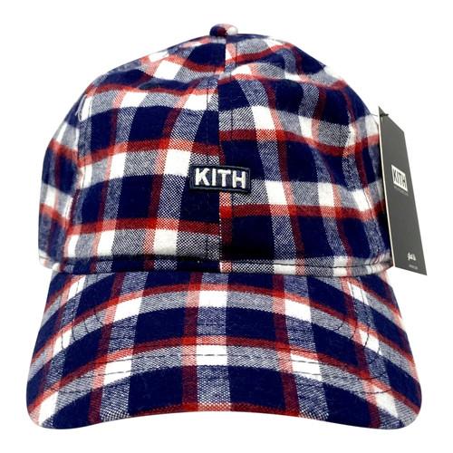 Kith Plaid Baseball Cap- Front
