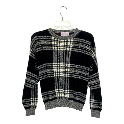 Vintage Pendleton Plaid Pullover Sweater- Front