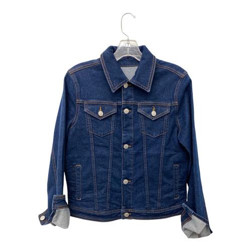 Artistic Milliners Dark Wash Denim Jacket-Front