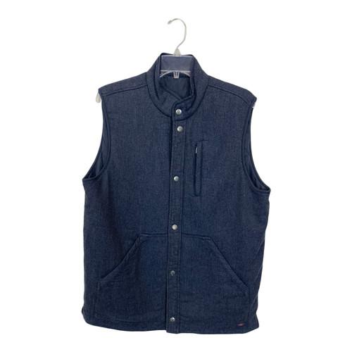 Micro-Herringbone Flannel Vest- Front