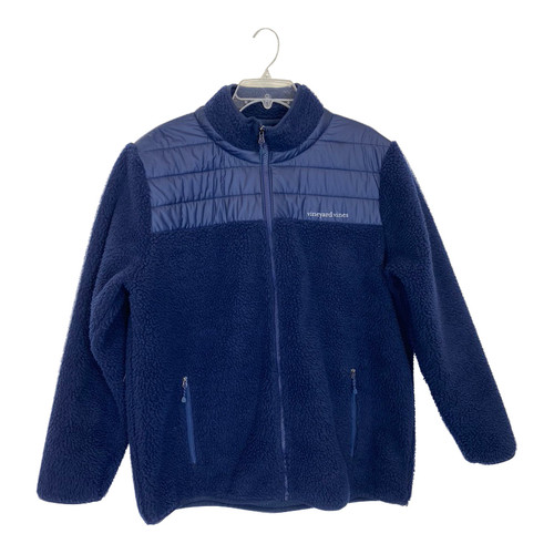 Vineyard Vines Zip-Up Teddy Fleece- Front