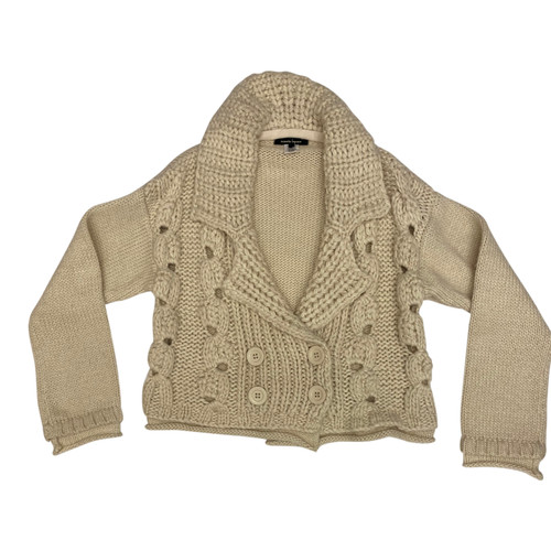 Nanette Lepore Chunky Knit Sweater Jacket-Front
