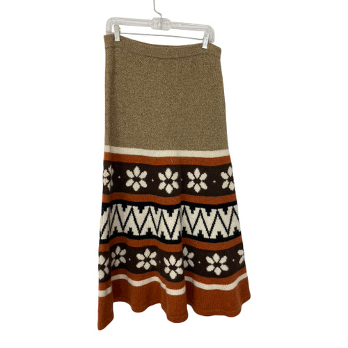 Vintage Jacquard Knit Skirt- Front