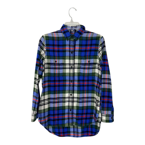 Madewell Plaid Flannel Two Pocket Shirt-Front