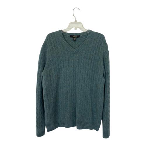 Daniel Bishop V-Neck Cable Knit Sweater-Front