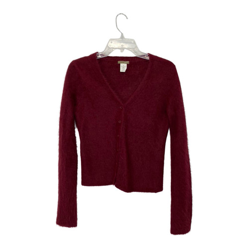 J. Crew Warm and Fuzzy V-Neck Cardigan-Front