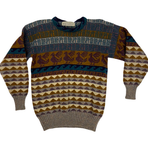 Vintage Scottish Intarsia Sweater-Thumbnail