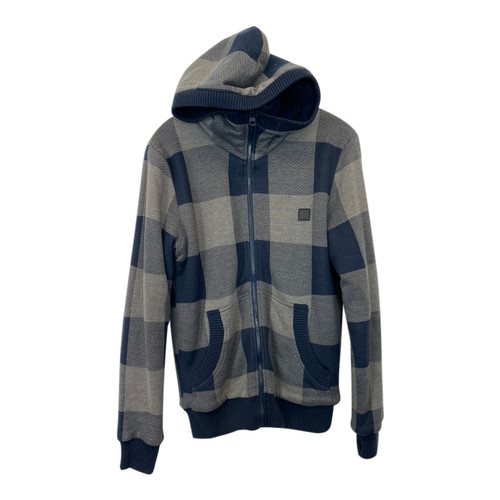 Bench Checked Fleece-Lined Hoodie-Front