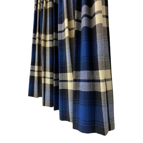 Vintage Plaid Pleated Skirt-Plete