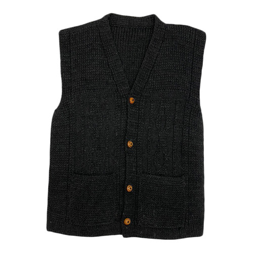 Chunky Knit Sweater Vest- Front