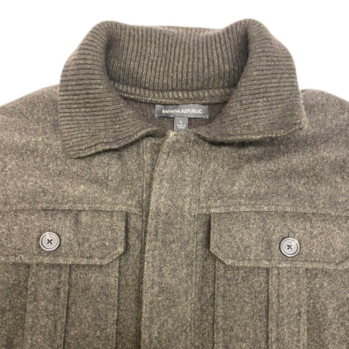 Banana Republic Knit Jacket-Collar