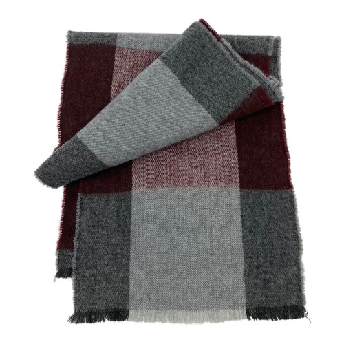 Tommy Hilfiger Buffalo Check Felted Scarf- front