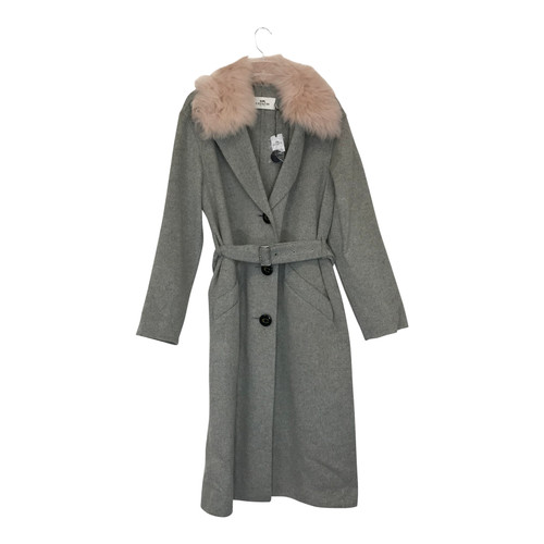 Coach Belted Long Wool Coat-Thumbnail