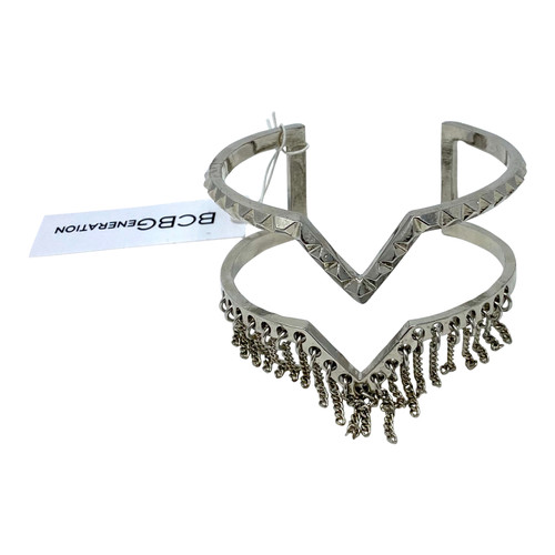 BCBGeneration Fringed Open Cuff- Front