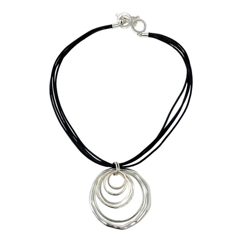 Concentric Circles Corded Necklace- Front