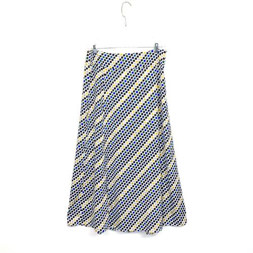 DKNY Check Print Maxi Skirt- Front