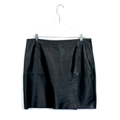 DKNY Leather Mini Skirt- Front