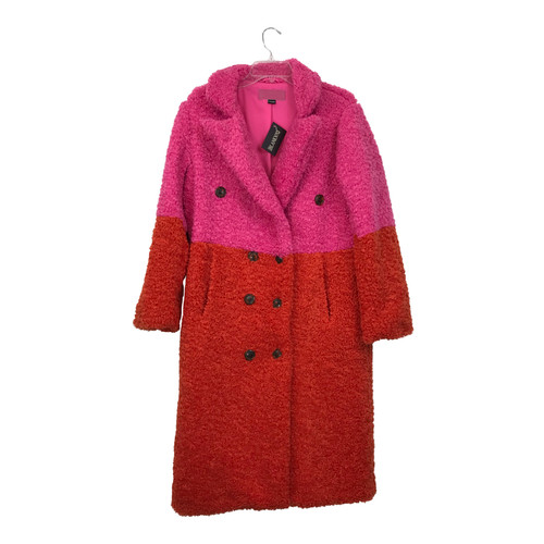 [BLANKNYC] Fuzzy Color Block Coat-Thumbnail
