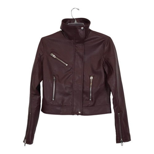 [BLANKNYC] High Collar Moto Jacket-Front