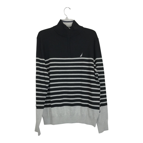 Nautica Striped Half Zip Sweater-Thumbnail