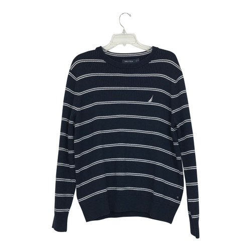 Nautica Striped Ribbed Sweater-Thumbnail