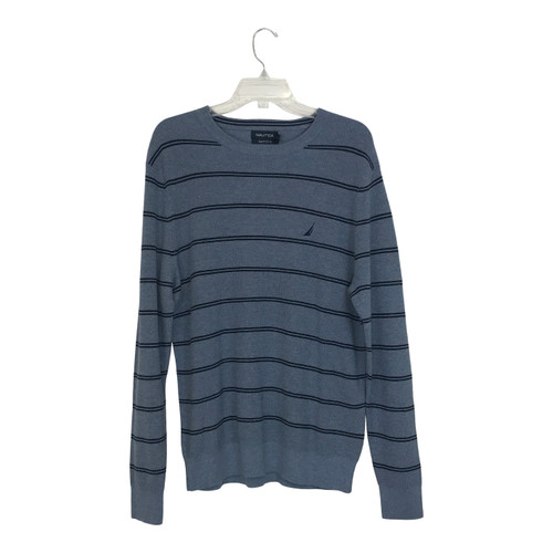 Nautica Crew Neck Ribbed Sweater Blue-Thumbnail