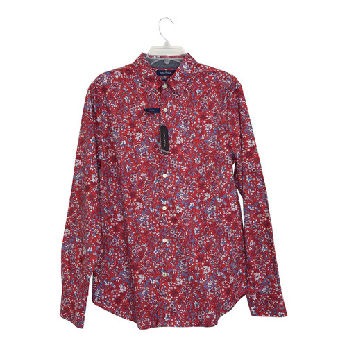 Nautica Floral Print Button Up Shirt-Thumbnail