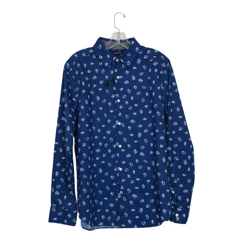 Nautica Floral Print Button Up Shirt-Thumbnail