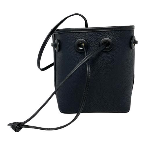 Pebbled Leather Bucket Bag-Thumbnail