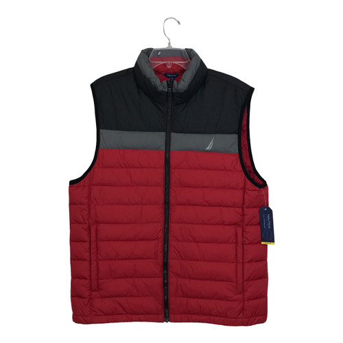 Nautica Colorblock Puffer Vest Red-Thumbnail