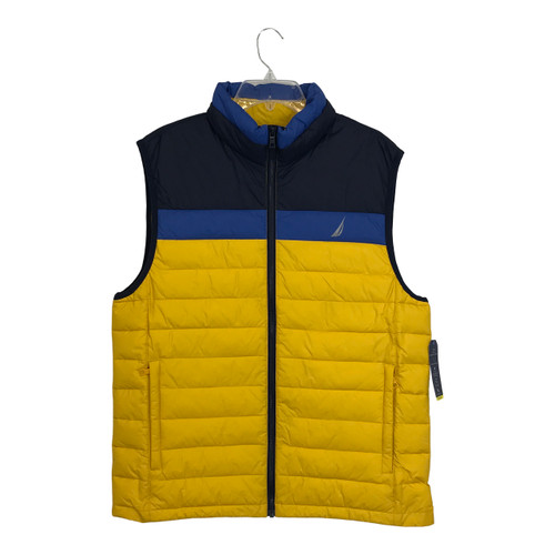 Nautica Colorblock Puffer Vest Yellow-Thumbnail