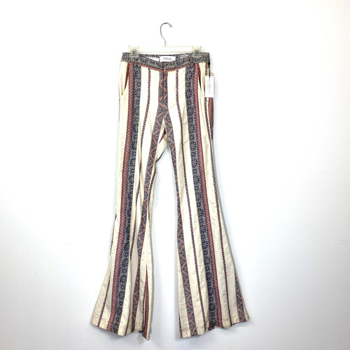 Derek Lam 10 Crosby Printed Flare Leg Jeans- Front