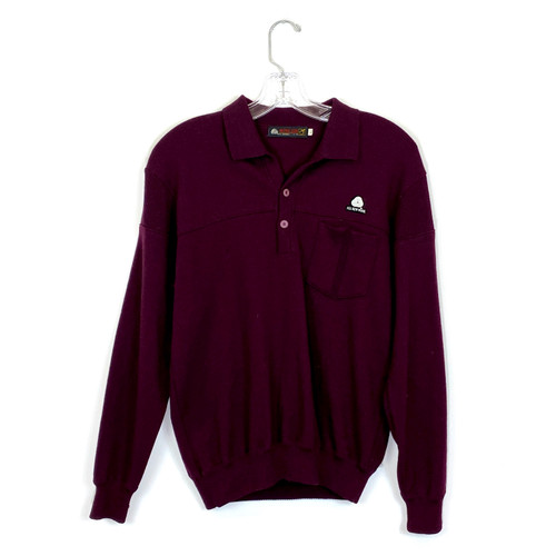Vintage Wool Polo Sweater- Front