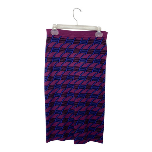 Maeve Graphic Knit Pencil Skirt- Front