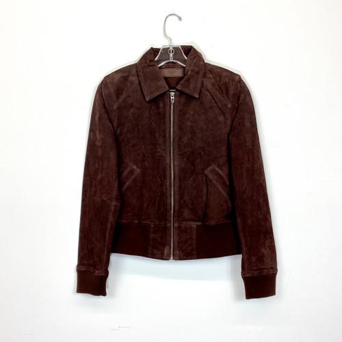 [BLANKNYC] Vegan Suede Blouson Jacket- Front