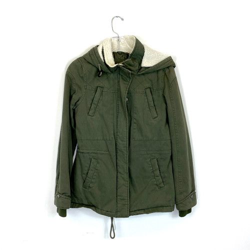 Aqua Military Inspired Anorak- Front
