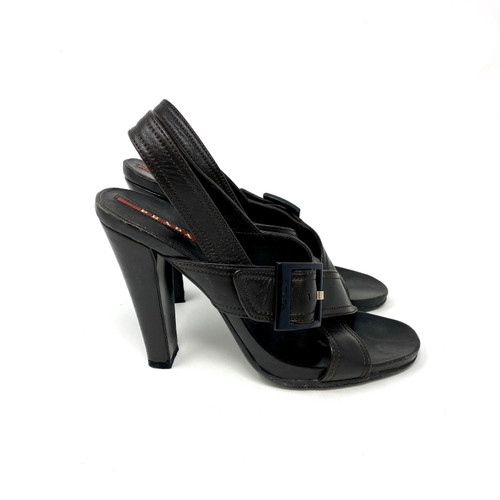 Prada Criss Cross Buckled Sandals- Right