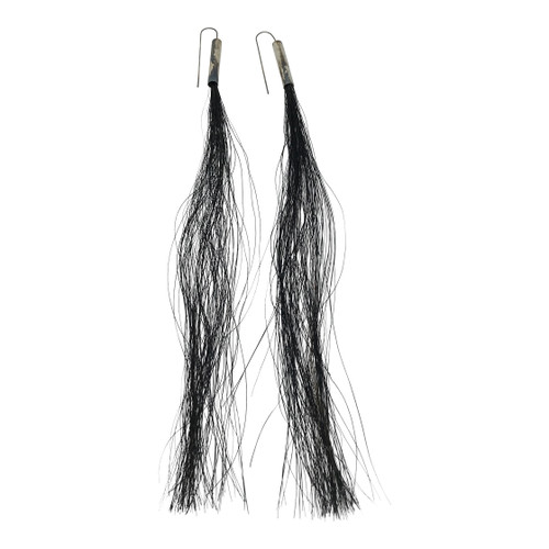 Helmut Lang Horse Hair Earrings-Thumbnail