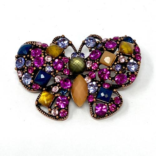 Rhinestone Butterfly Brooch- Front